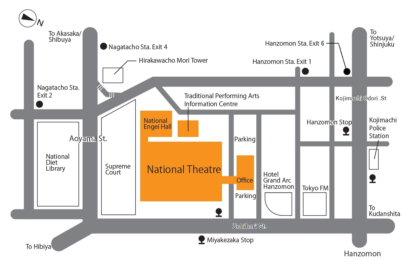 National Theatre(Large Theatre,Small Theatre) | Japan Arts Council